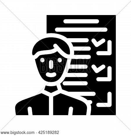 Customer Questionnaire Kyc Glyph Icon Vector. Customer Questionnaire Kyc Sign. Isolated Contour Symb