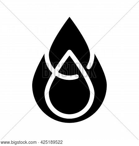 Saturated Fat Glyph Icon Vector. Saturated Fat Sign. Isolated Contour Symbol Black Illustration