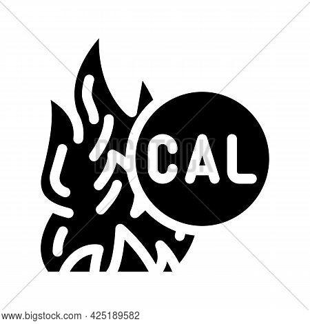 Burning Calories Glyph Icon Vector. Burning Calories Sign. Isolated Contour Symbol Black Illustratio