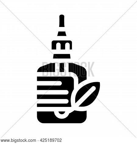 Castor Oil Glyph Icon Vector. Castor Oil Sign. Isolated Contour Symbol Black Illustration
