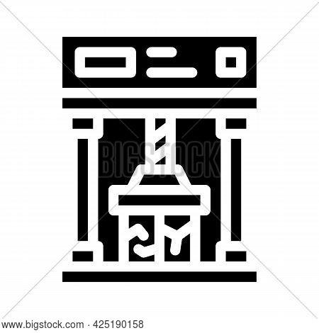 Crash Test Glyph Icon Vector. Crash Test Sign. Isolated Contour Symbol Black Illustration