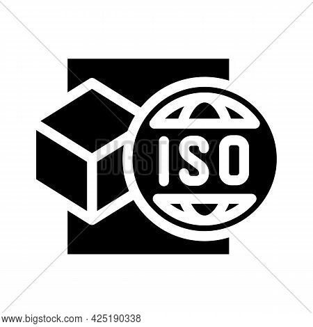 Iso Standard Production Glyph Icon Vector. Iso Standard Production Sign. Isolated Contour Symbol Bla