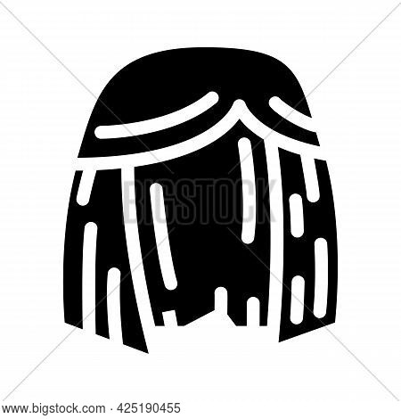 Wig Or Hairstyle Stylist Glyph Icon Vector. Wig Or Hairstyle Stylist Sign. Isolated Contour Symbol B