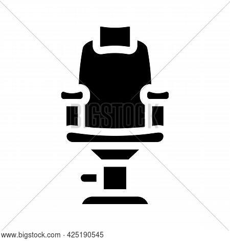 Armchair Stylist Glyph Icon Vector. Armchair Stylist Sign. Isolated Contour Symbol Black Illustratio