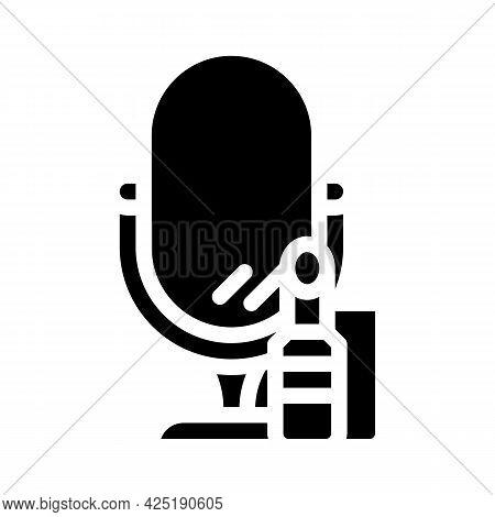 Cosmetics Stylist Glyph Icon Vector. Cosmetics Stylist Sign. Isolated Contour Symbol Black Illustrat