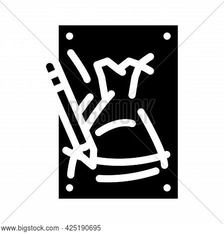 Sketches Stylist Glyph Icon Vector. Sketches Stylist Sign. Isolated Contour Symbol Black Illustratio