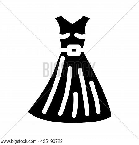 Dress Stylist Glyph Icon Vector. Dress Stylist Sign. Isolated Contour Symbol Black Illustration