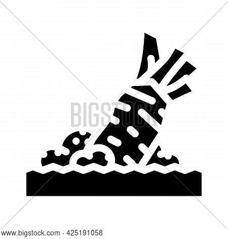 Rubbing Wasabi Glyph Icon Vector. Rubbing Wasabi Sign. Isolated Contour Symbol Black Illustration