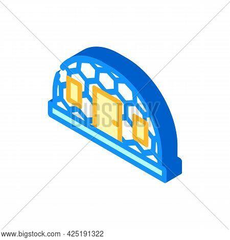 Igloo Ice House Isometric Icon Vector. Igloo Ice House Sign. Isolated Symbol Illustration