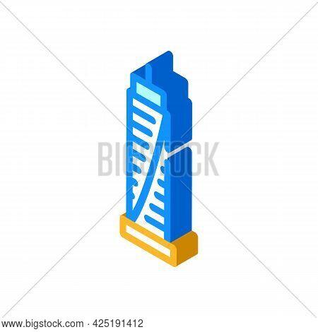Skyscraper House Isometric Icon Vector. Skyscraper House Sign. Isolated Symbol Illustration