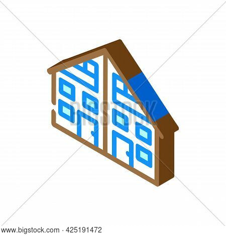 Two Family House Isometric Icon Vector. Two Family House Sign. Isolated Symbol Illustration