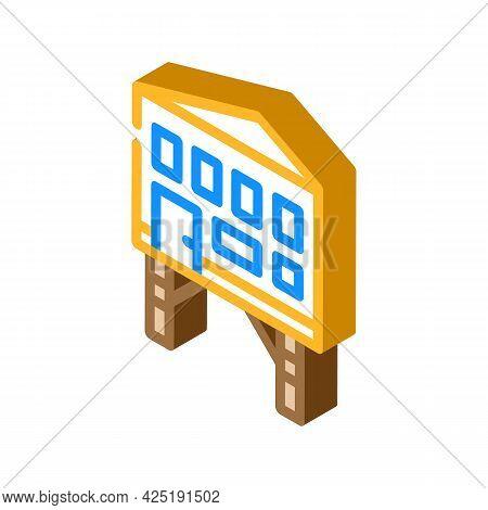 Stilt House Isometric Icon Vector. Stilt House Sign. Isolated Symbol Illustration