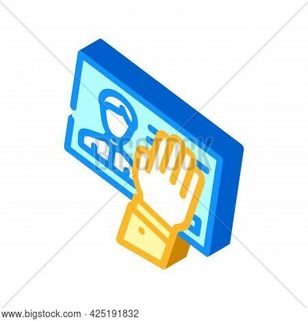 Client Data Theft Kyc Isometric Icon Vector. Client Data Theft Kyc Sign. Isolated Symbol Illustratio