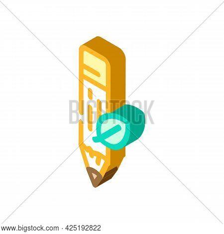 Eye Liner Isometric Icon Vector. Eye Liner Sign. Isolated Symbol Illustration