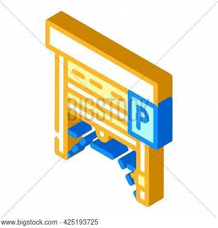 Automatically Parking Gates Isometric Icon Vector. Automatically Parking Gates Sign. Isolated Symbol