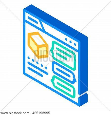 Discussion Production Isometric Icon Vector. Discussion Production Sign. Isolated Symbol Illustratio