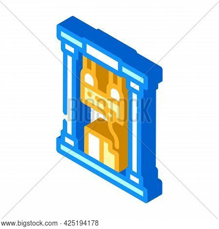 First Sample Production Isometric Icon Vector. First Sample Production Sign. Isolated Symbol Illustr