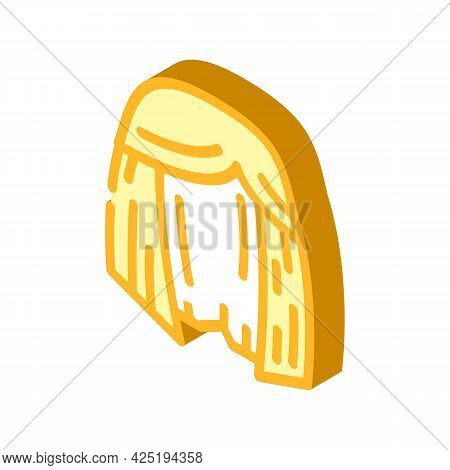 Wig Or Hairstyle Stylist Isometric Icon Vector. Wig Or Hairstyle Stylist Sign. Isolated Symbol Illus