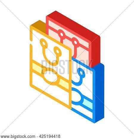 Handbags Stylist Isometric Icon Vector. Handbags Stylist Sign. Isolated Symbol Illustration
