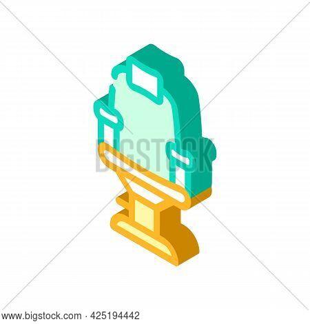 Armchair Stylist Isometric Icon Vector. Armchair Stylist Sign. Isolated Symbol Illustration