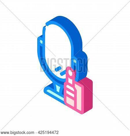 Cosmetics Stylist Isometric Icon Vector. Cosmetics Stylist Sign. Isolated Symbol Illustration