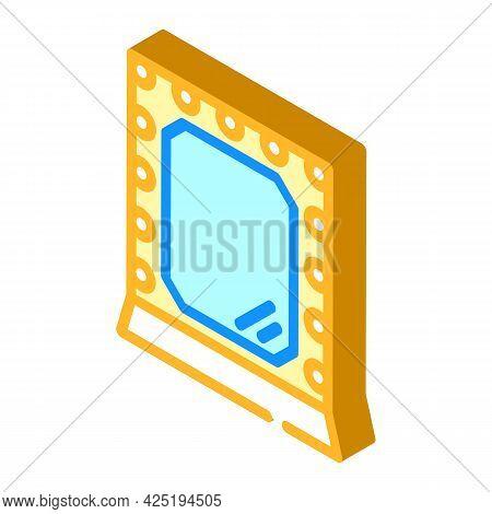 Mirror Stylist Isometric Icon Vector. Mirror Stylist Sign. Isolated Symbol Illustration