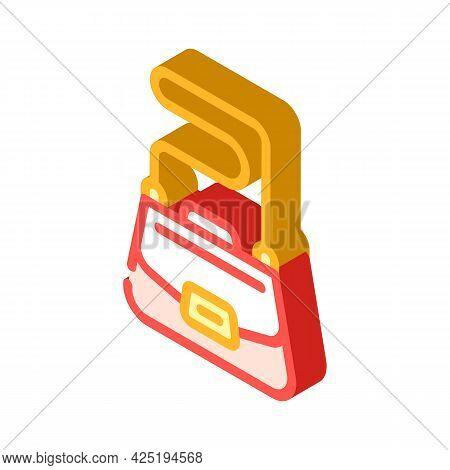 Bag Stylist Isometric Icon Vector. Bag Stylist Sign. Isolated Symbol Illustration