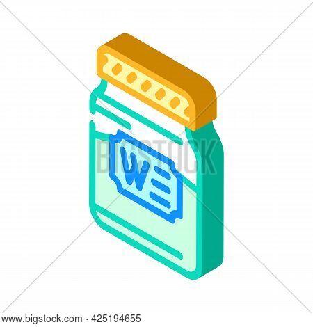 Bottle Jar Wasabi Isometric Icon Vector. Bottle Jar Wasabi Sign. Isolated Symbol Illustration