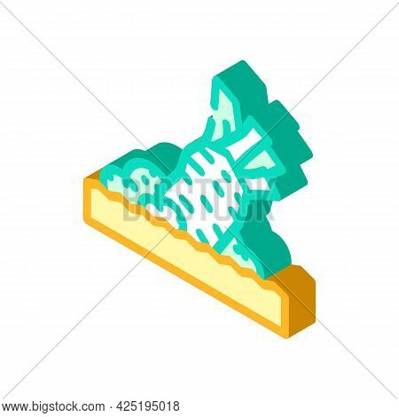 Rubbing Wasabi Isometric Icon Vector. Rubbing Wasabi Sign. Isolated Symbol Illustration