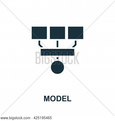 Model Icon. Simple Creative Element. Filled Monochrome Model Icon For Templates, Infographics And Ba