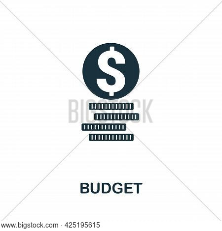 Budget Icon. Simple Creative Element. Filled Monochrome Budget Icon For Templates, Infographics And