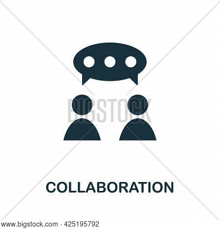Collaboration Icon. Simple Creative Element. Filled Monochrome Collaboration Icon For Templates, Inf