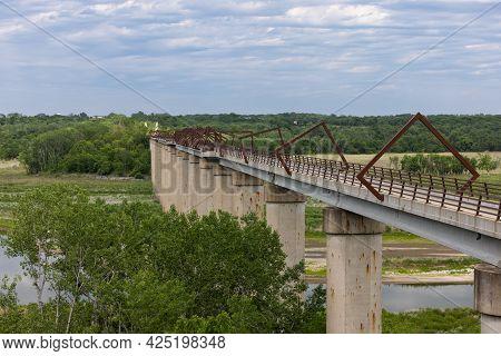 High Trestle Trail Bridge - A Unique Bridge On A Bike Trail That Used To Be A Railroad Line.