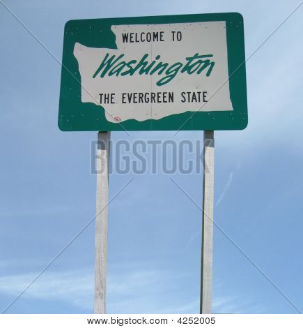 Welcome Washington Sign