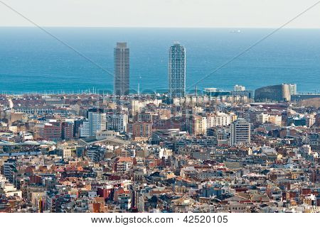 Barcelona Aerial view