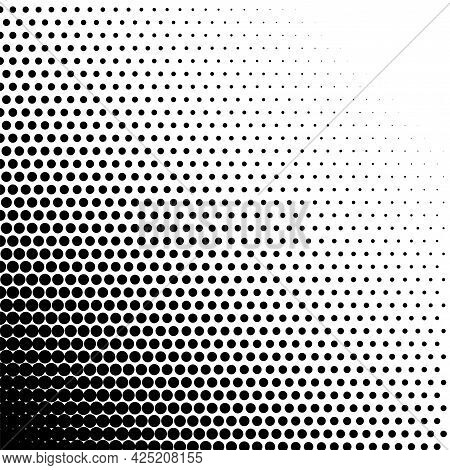 Halftone Dots Gradient Fade Digital Monochrome Pattern Element