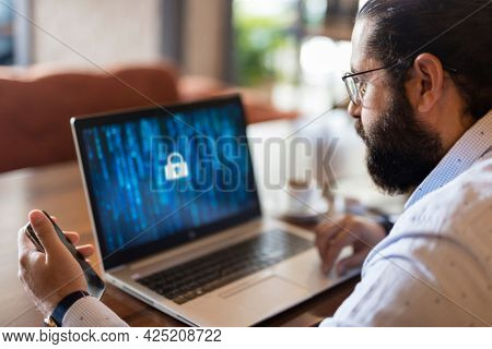Cyber Security. Hacking Identity On The Internet. Network Security.