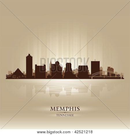 Memphis Tennessee Skyline City Silhouette