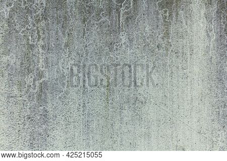 The Texture Of An Old Concrete Wall With Traces Of Mold And Mildew. Industrial Minimalistic Backgrou