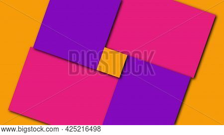 Geometric Colorful Shapes, Computer Generated. 3d Render Visual Background