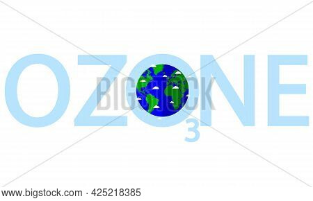 Clouds Around The Earth For The Day Of The Ozone Layer Protection, Vector Art Illustration.