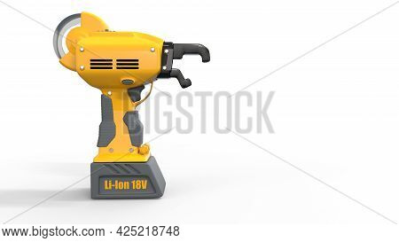 Electric Iron Rod Wire Tier Tool - Isolated Digital Industrial 3d Illustration