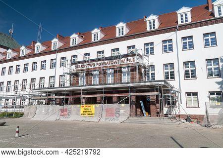 Pila, Poland - May 31, 2021: Poviat Eldership In Pila.