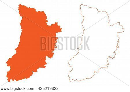Province Of Lleida (kingdom Of Spain, Autonomous Community Catalonia) Map Vector Illustration, Scrib