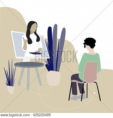 Online Mental Consultation And Remote Psychoanalysis, Help By Psychologist, Discussion With Psychiat