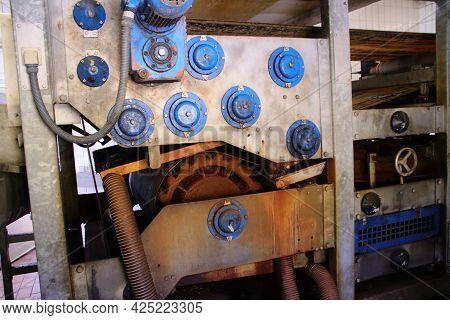 Belt Filter Press For Dewatering Sewage Sludge In A Sewage Treatment Plant