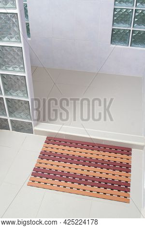 Anti Slip Mat In The Bathroom, Safety Concept