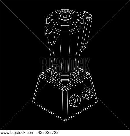 Kitchen Blender. Appliance, Equipment Mixer Machine Vector