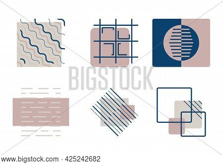 Collection Of Abstract Vector Geometric Shapes. Modern Icons Or Logos, Ready-made Design Elements Fo