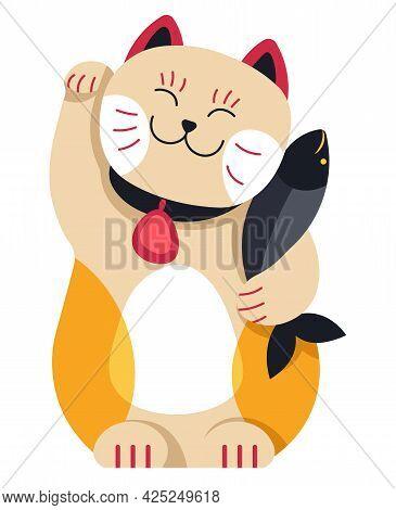 Maneki Neko Waving Cat Japanese Mascot Talisman